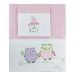 bubba blue girl baby owl bassinet sheet set