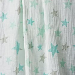 the little linen company Muslin1PkPrints TealStars