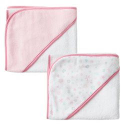 the little linen  HoodedTowels2Pk MeadowBunnies