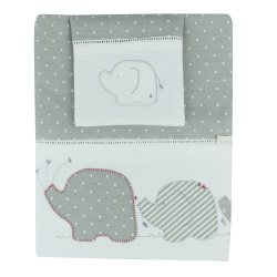 01 petit elphant cot sheet set