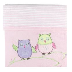 bubba blue girl baby owl velour blanket
