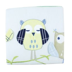 bubba blue boy baby owl cot quilt
