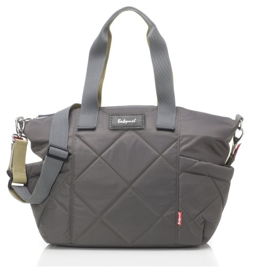 babymel Evie Quilted nappy bag grey