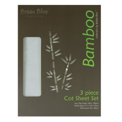 bubba blue Bamboo 3pc cot sheet set