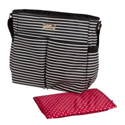 91453 Striped Nappy Bag (Details)