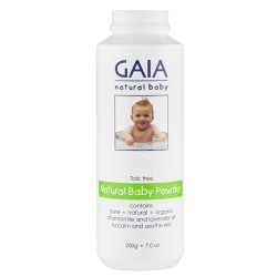 gaia natural baby natural baby powder 200g