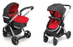 2 Urban # Red Wave Bassinet & Stroller Combo HR rgb