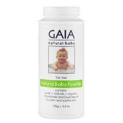 gaia natural baby natural baby powder 100g