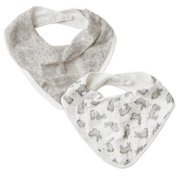 the little linen company Bib2Pk bunnies