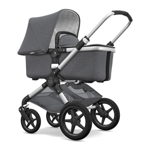 bugaboo fox silver frame grey bassinet
