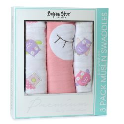 17 girl owl 3pk muslin wraps copy