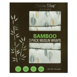 bubba blue Bamboo Leaf 3pk musline wraps