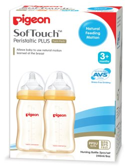 pigeon SofTouch PPSU 240ml Twin
