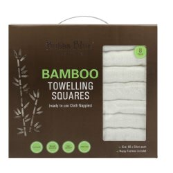 bubba blue bamboo towelling squares