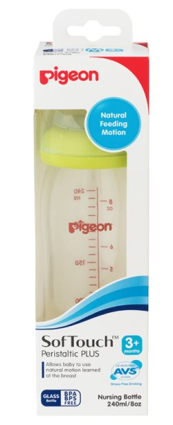 pigeon sofTouch 240ml glass  bottle