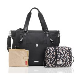 storksak cleo black nappy bag