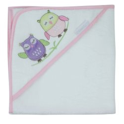 bubba blue girl baby owl hooded towel2