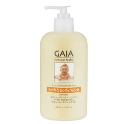 gaia natural baby bath and body wash 500ml