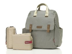 babymel robyn backpack navy stripe