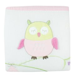 bubba blue girl baby owl cot quilt