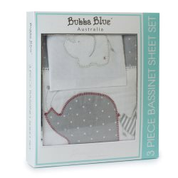 3 petit elephant 3pice bassinet sheet set