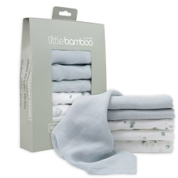 little bamboo MuslinWashers6Pk Whisper 1
