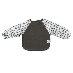 all4ella Long Sleeve Bib heart grey