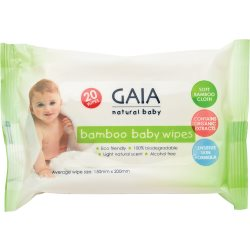 GAIA bamboo wipes 20 pack