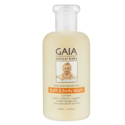 gaia natural baby bath and body wash 250ml