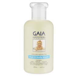 gaia natural baby hair and body wash 250