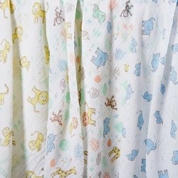 the little linen company Muslin3PkPrint JungleFriends