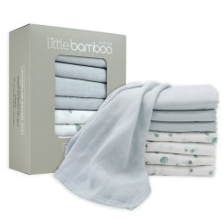 little bamboo MiniMuslin8Pk Whisper