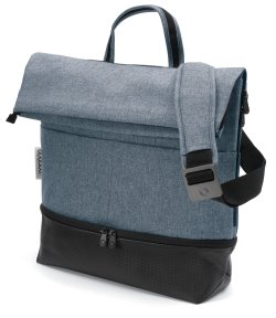 bugaboo nappy bag blue melange