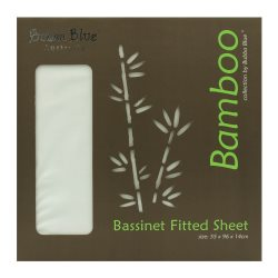 bubba blue bamboo bassinet fitted sheet