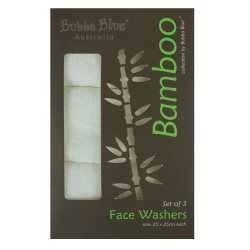bubba blue bamboo 3pk facewashers