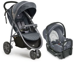 Litetrax3 Charcoal New Wheel with Gemm Car Seat HR