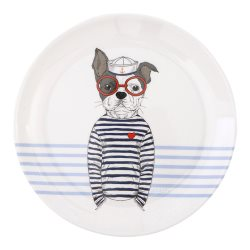 all4ella melamine plate blue