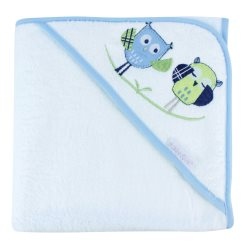 bubba blue boy baby owl hooded towel2