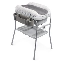 chicco cuddle bubble comfort baby bath and changing table sage
