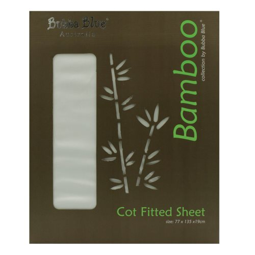 bubba blue bamboo cot fitted sheet